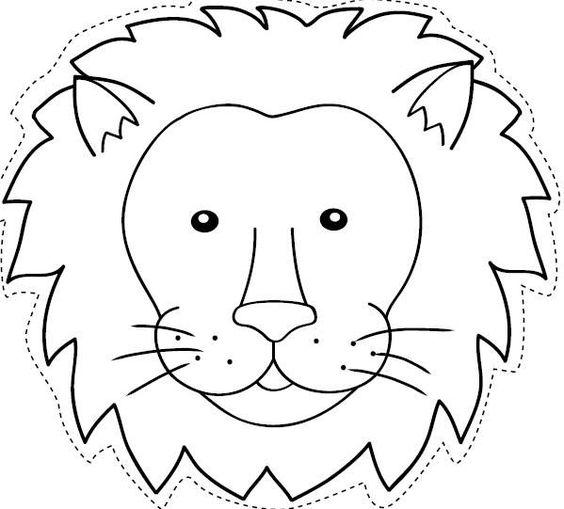 Máscara de león 2. Manualidades a Raudales.