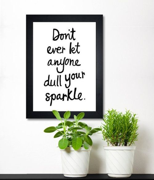 you sparkle on your own