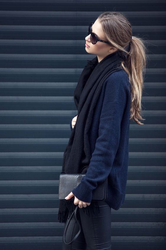 Minimalisti style, blue and black, layers