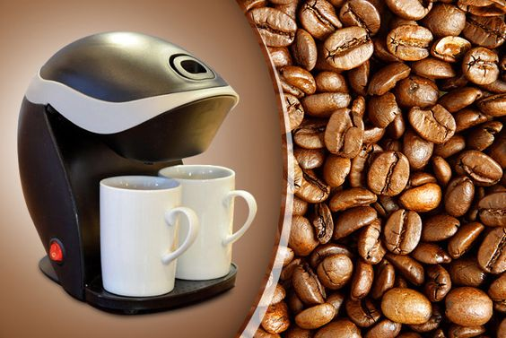 Two Cup Coffee Maker & Mugs