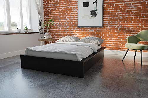 Com Dhp Maven Platform Bed With, Dhp Maven Platform Bed With Under Storage Queen Black Faux Leather
