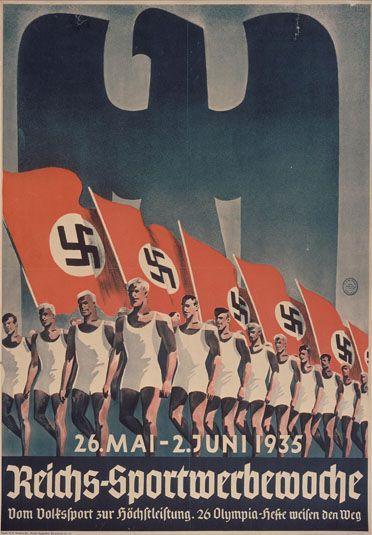 Hitler zorgt voor Propoganda waardoor meer mensen kiezen voor hitlers partij(NSDAP). In 1935.