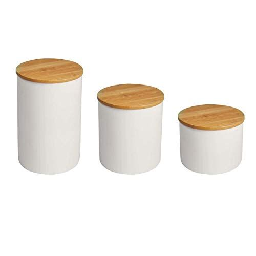 Food Storage Jar With Bamboo Lid White Ceramic Food Stor Https Www Amazon Com Dp B07rzjdcvw Ref Cm Sw Food Storage Jar Storage Ceramic Kitchen Canisters