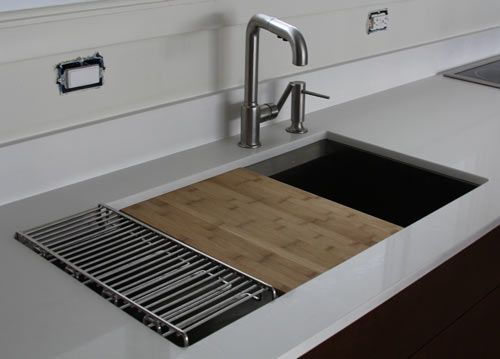 Beautiful Double Bowl Sink With Sliding Chopping Board, Basket, Drying Rack, Etc. |  Home | Pinterest | Double Bowl Sink, Bowl Sink And Sinks