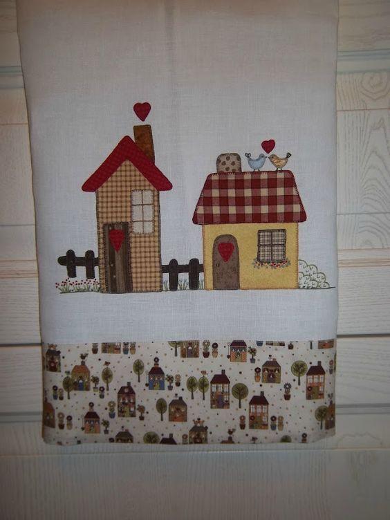 Lavanda e lill tutorial asciugapiatti con applicazioni - Apliques para cortinas ...