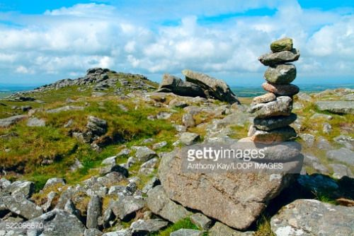 A pile of stones at the summit of Rough Tor on Bodmin Moor which... #bodminaireborough: A pile of stones at the summit… #bodminaireborough