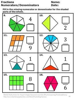 3rd Grade Common Core Math Fractions BUNDLE Activities
