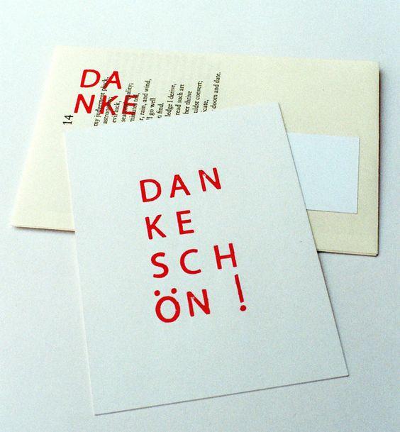 Dankeschön-Karte mit Umschlag aus Buchseiten
