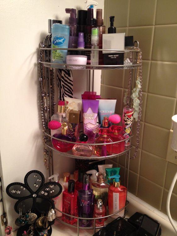 the best way I found to organize all my perfume Bathroom