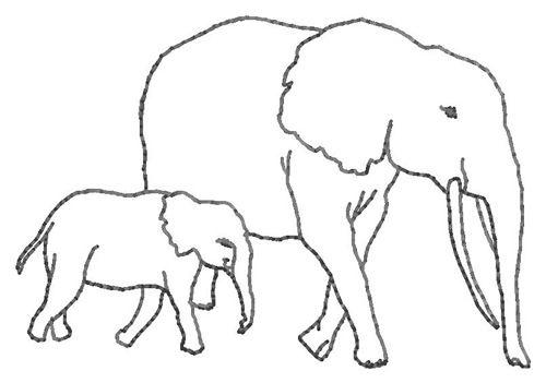 Elephant Outline Elephant Silhouette Trunk Up Clipart Pinteres Jpg Clipartix Elephant Outline Elephant Silhouette Outline Pictures