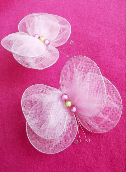 [NYLON MANUALIDADES✄]DIY...Mariposas para decorar