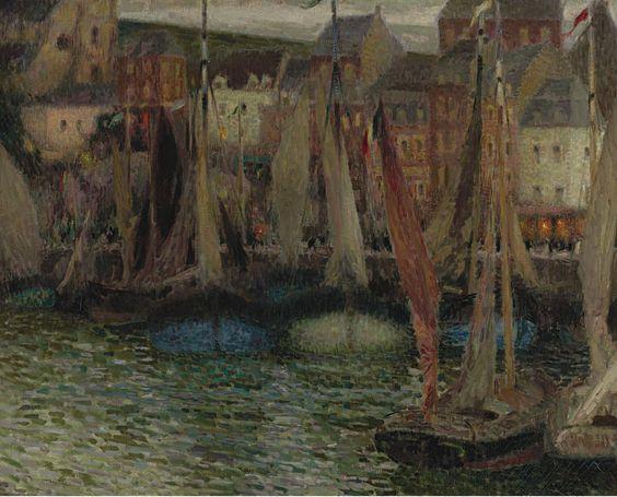 Henri Le Sidaner   Boats At Treport  1906