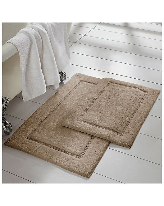 Allure 2 Pack Solid Loop With Non Slip Backing Bath Mat Set Solid