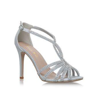 Sandals heels, Silver high heel sandals