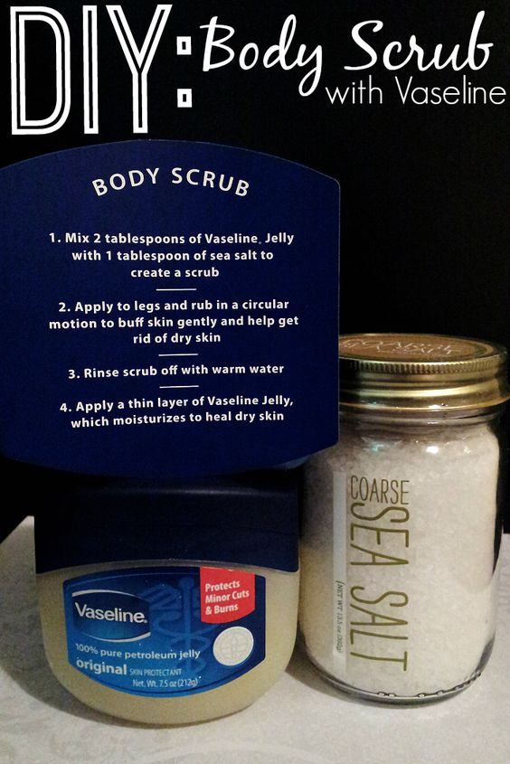 Vaseline Jelly DIY Body Scrub