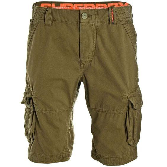 Superdry Core Cargo Lite Shorts Company Green Men s Pants Herren Trousers Size L