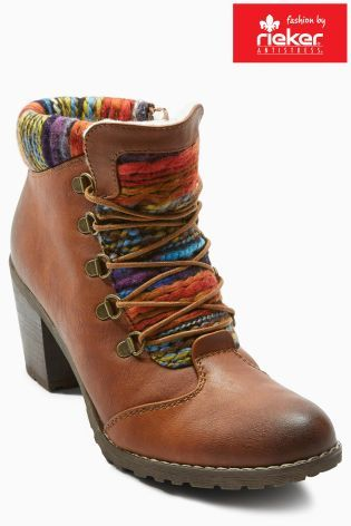 Buy Rieker Caledonia Heeled Lace Up Boot from the Next UK online shop