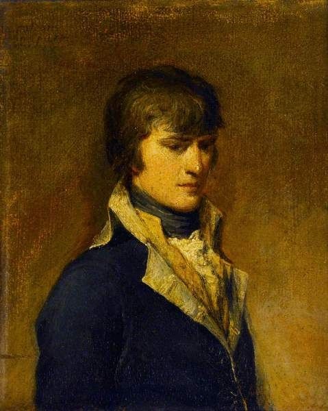 Napoleon Bonaparte in his 29th year painted at Verona by Francesco Cossia, 1797, oil on panel.  From Sir John Soane's Museum, London. Soane was fascinated by Napoleon and collected related memorabilia. He hung this portrait in his Breakfast Room.