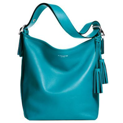 Coach Legacy Collection | The Zoe Report. Love the color & love one strap bags (that last). Ideal.