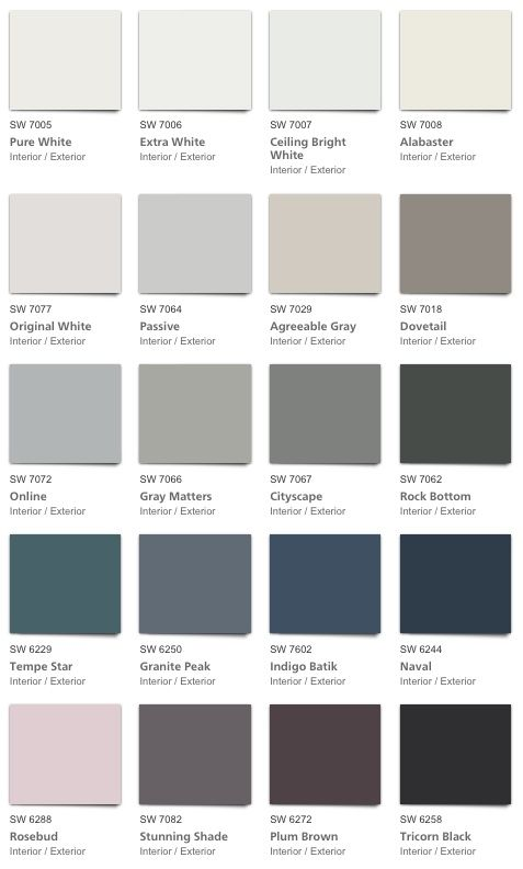 Pottery Barn Fall 2018 Colors From Sherwin Williams Nice Variety Of Warm And Cool Neutral Whi Pottery Barn Colors Pottery Barn Paint Colors Pottery Barn Paint