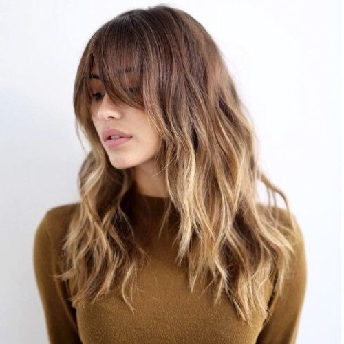 Ombre hair with bangs: