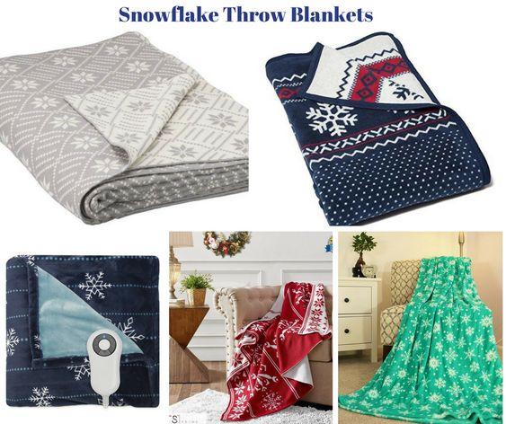 Snowflake Throw Blankets