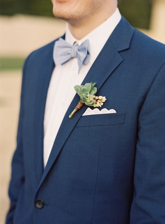 Navy suit: http://www.stylemepretty.com/2015/09/08/california-pastel-garden-inspired-wedding/ | Photography: Michael Radford - http://www.michaelradfordphotography.com/