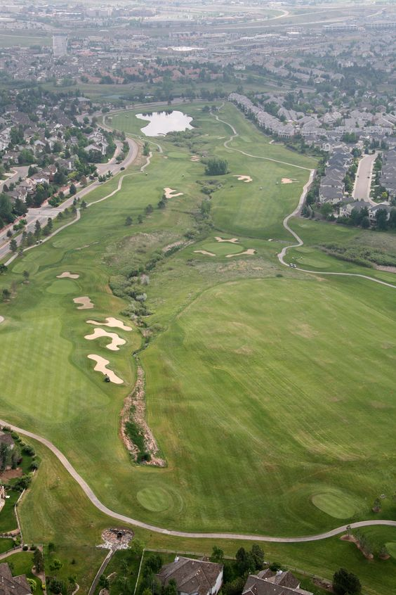 Aerial view of the front 9 at Lone Tree Golf Club & Hotel