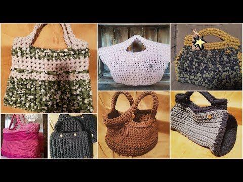اشيك شنط كروشية حريمي جديدة 2018 شنط كروشي للبنات روعة Bag Crochet Youtube Straw Bag Tote Bag Tote