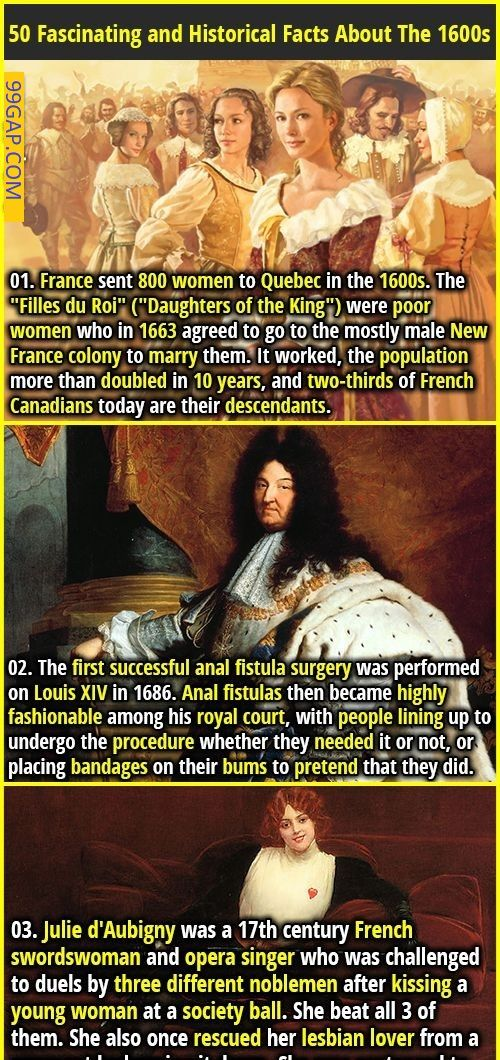 Fascinating And Historical Facts About The 1600s Wtf Fun Facts