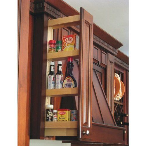 Hafele 3 Inch Width X 30 Inch Height Wall Filler Pull Out Maple 545 47 256 Pull Out Spice Rack Wall Spice Rack Upper Kitchen Cabinets