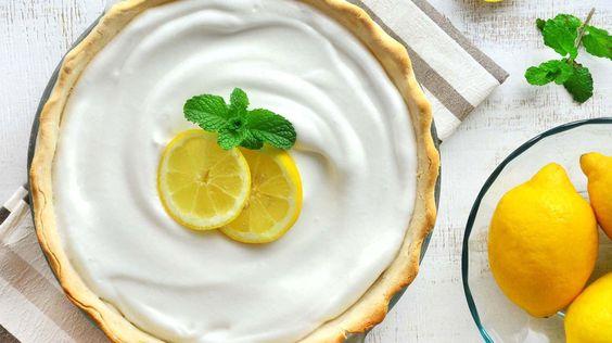 Torta de limão com merengue