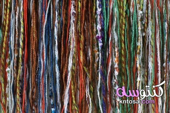 أنواع الخيوط المستخدمة في النسيج Embroidered Friendship Bracelet Hair Wrap Style