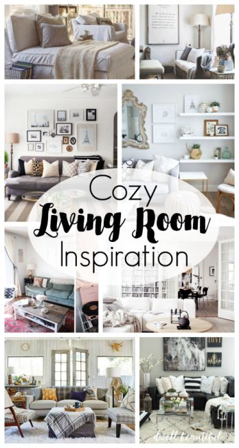 Cozy Living Room Inspiration - get comfy this fall and winter with some awesome living space design ideas. Great home decor, furniture, details, and more!