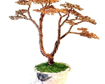 Red Maple Wire Tree Sculpture by ABsArtisticCreations on Etsy