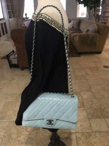 Chanel-Light-Blue-Classic-Jumbo-Handbag