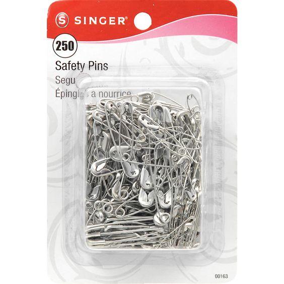 Singer Safety PinsSizes 0 To 2 250/Pkg
