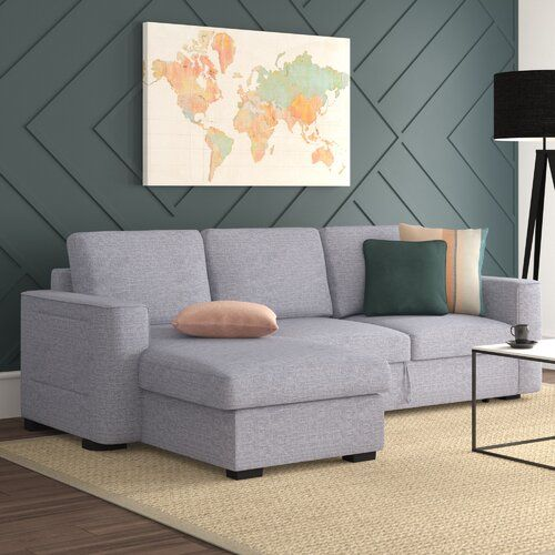 Hashtag Home Chul Reversible Corner Sofa Bed Corner Sofa Corner Sofa Pillows Sofa Bed With Storage