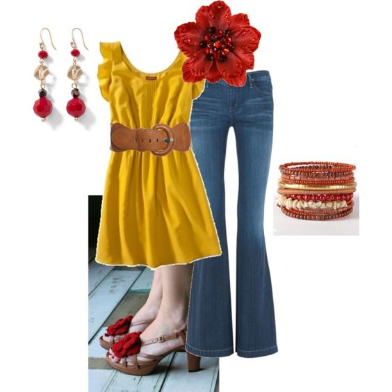 """""""Red & Yellow for Spring :)"""" by makaiod on Polyvore"""