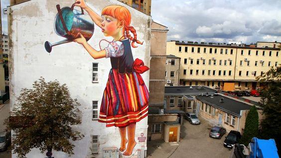 Uma garota e alguns muros