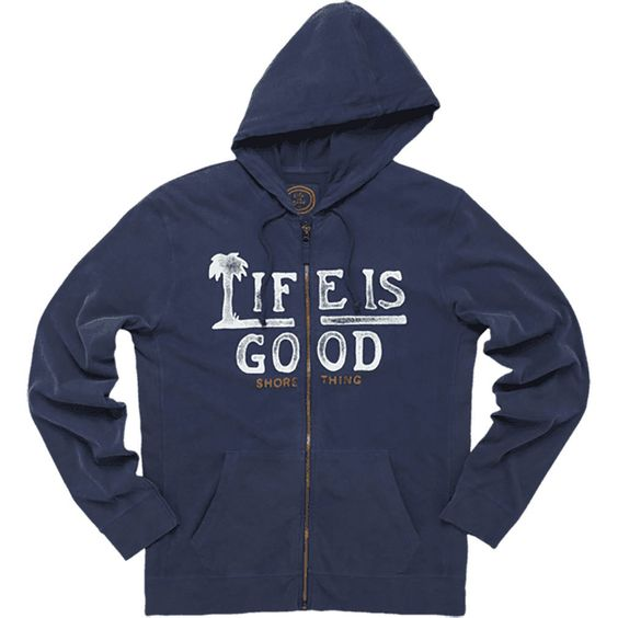 Sueded Jersey Hoodie Jacket by Life is good