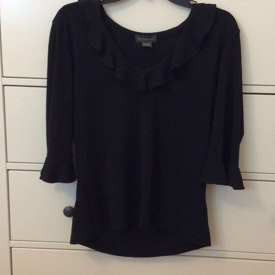Banana Republic shirt Black, 60% rayon, 40% polyester. Worn only once. No rips/stains/holes and pet-free/smoke-free home Banana Republic Tops