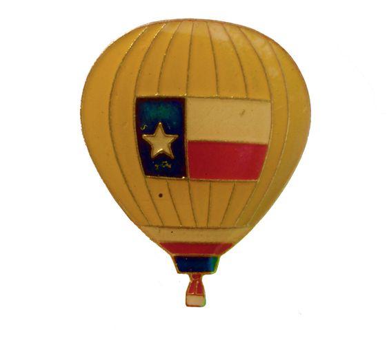TEXAS STATE Hot Air Balloon vintage enamel pin lapel tx lone star