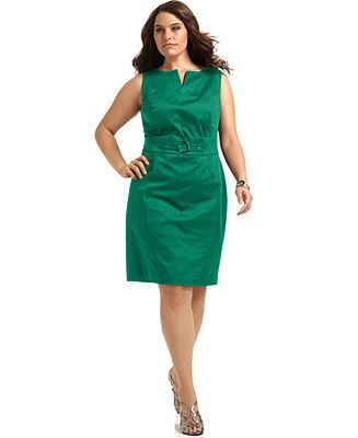 AGB Plus Size Dress, Sleeveless O-Ring Sheath - Plus Size Dresses - Plus Sizes - Macy's