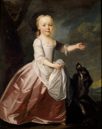 MARGARET LUTTRELL AS A CHILD, by Richard Phelps in the Drawing Room at Dunster Castle | National Trust Images