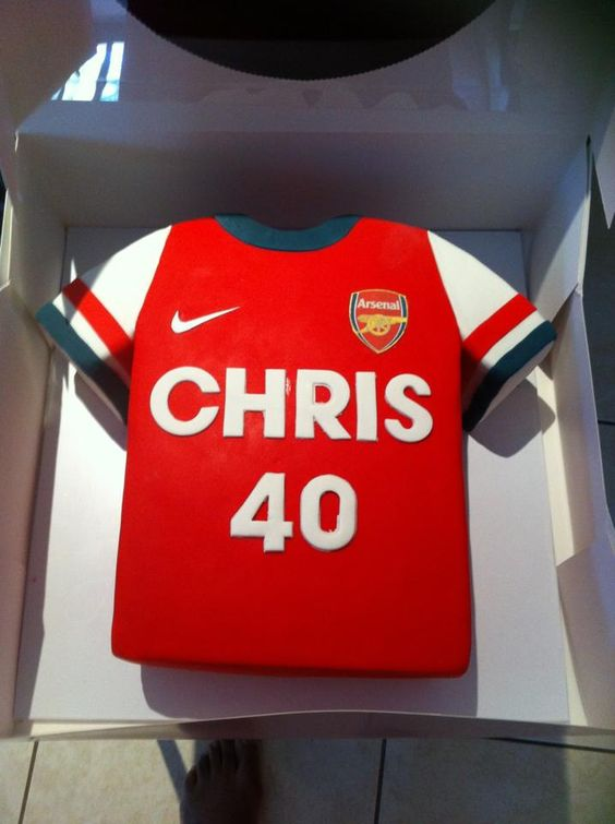 cake a cakes cake 30th arsenal football cake football shirt cake cakes ...
