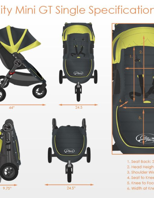 The Baby Jogger City Mini GT incorporates the compact, all-terrain mobility of the City Mini and improves the ride for older children. With ...