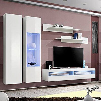 Orren Ellis Fly A5 35TV Wall Mounted Floating Modern Entertainment Centre Colour: White