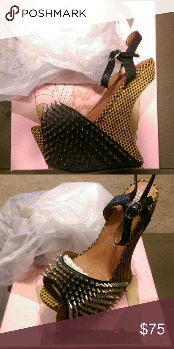 Jeffrey Campbell Vicious Nightwalks Black hearts with spikes. Bought new from Soulstruck. Jeffrey Campbell Shoes Heels