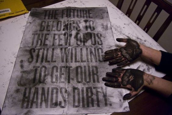 Mets tes mains sales sur mon affiche / Galeries / étapes: